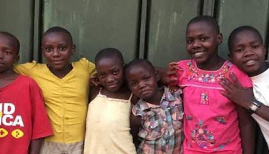 Kids by door